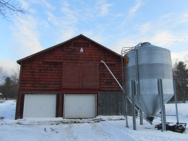 Grain silo and brewery at Oak Pond