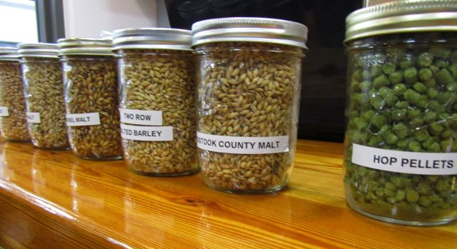 malts and hops at Baxter Brewing