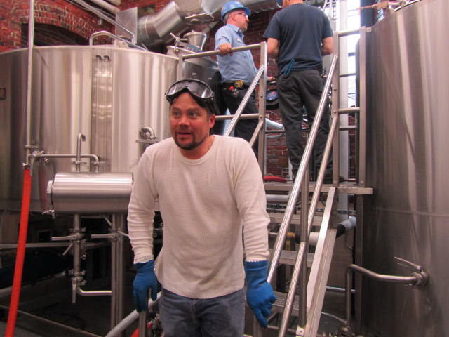 Baxter cellarman John Green in the brewhouse