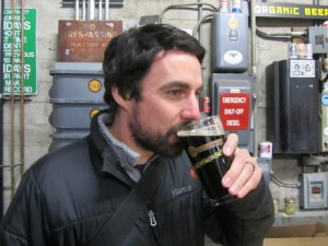 Brady Walen of The Daily Pull beer blog samples this year's HUB CDA