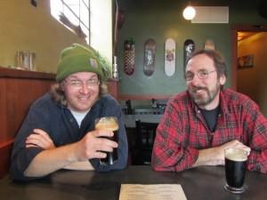 Big Horse Brewmaster Jason Kahler (left) and Double Mountain's Matt Swihart