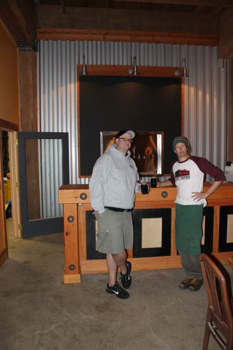 Chris Nemlowill (left) and Jack Harris in new Fort George taproom