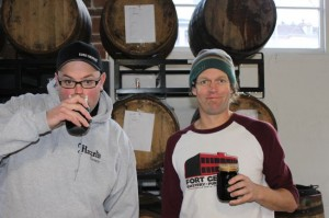 Fort George Brewery founders Chris Nemlowill (left) and Jack Harris