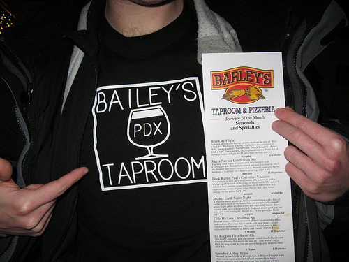 Bailey's Taproom representin' at Barley's Taproom in Asheville, NC