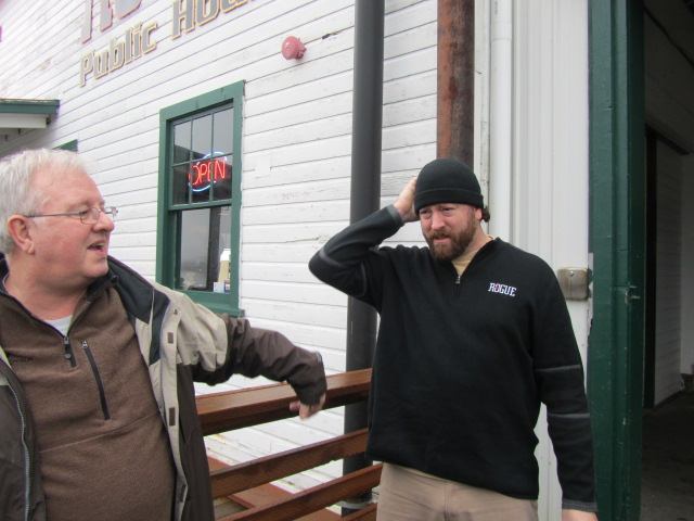 Dan Bartlett (left) and Rogue's Jimmy Griffin at Pier 39