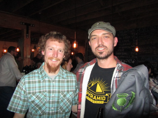 Oakshire and former MacTarnahan's brewer Joe Jasper (left) with MacTarnahan's masterbrewer Tom Bleigh