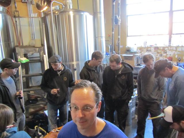 Bill Night of It's Pub Night at Lucky Lab tasting big brews