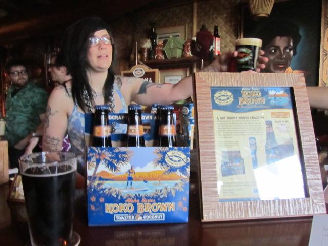 Thatch bartender serves up Kona Koko Brown