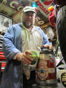 Oregonian beer scribe John Foyston rocks the 5 Liter Newkie keg