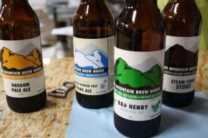 Fire Mountain Brew House bottles