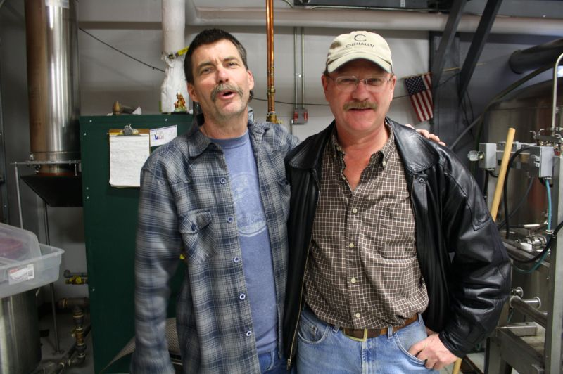 Fire Mountain brewer Henry Gorgas (left) and Long Brewing's Paul Long