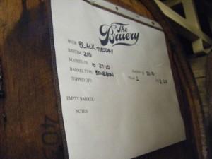 Black Tuesday Barrel at The Bruery