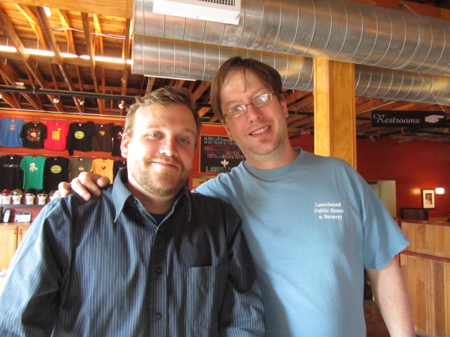 Laurelwood's Micah Bell (left) and Brewmaster Chad Kennedy