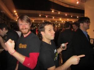 "Matt ""Speck"" Speckenbach of Hopworks (left) and Ben Edmunds of Breakside"