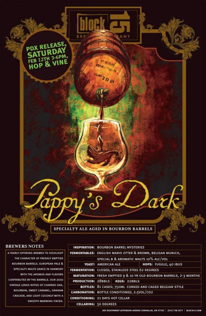 Block 15 Pappy's Dark release at Hop & Vine