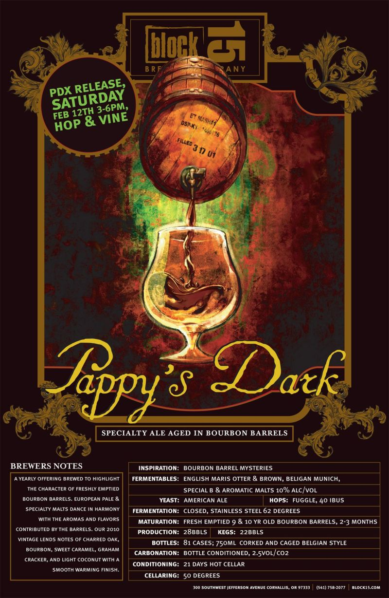 Block 15 Pappy's Dark release at Hop & Vine