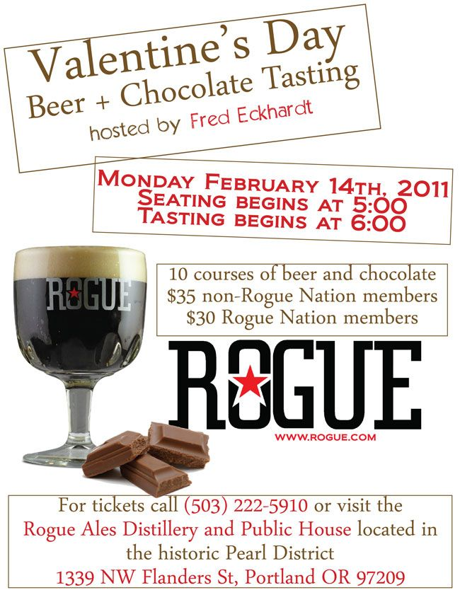 Rogue Chocolate and Beer Pairing