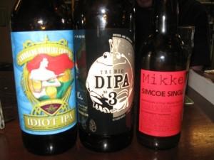 Coronado, Blue Frog, and Mikkeller bottles sampled at The BeerMongers