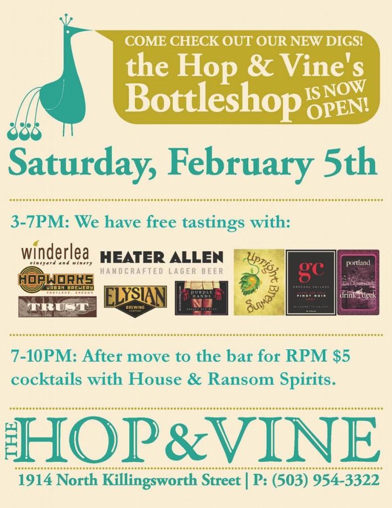 The Hop & Vine bottleshop grand opening