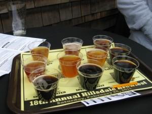 McMenamins 18th Annual Hillsdale Brewfest sampler