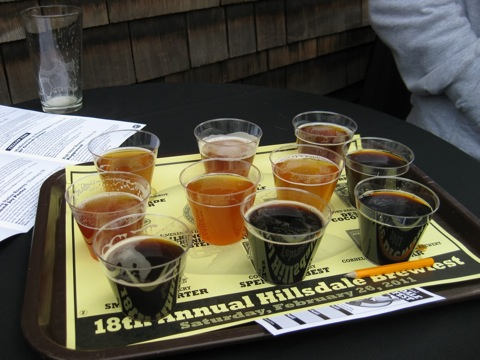 McMenamins 18th Annual Hillsdale Brewfest sampler