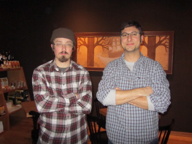 Upright Brewers Gerritt Ill (left) and Alex Ganum