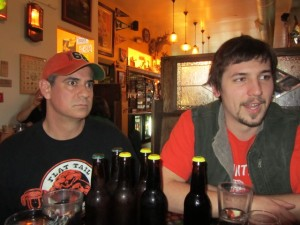 Owner Ian Duncan (left) and Brewer Dave Marliave of Flat Tail Brewing