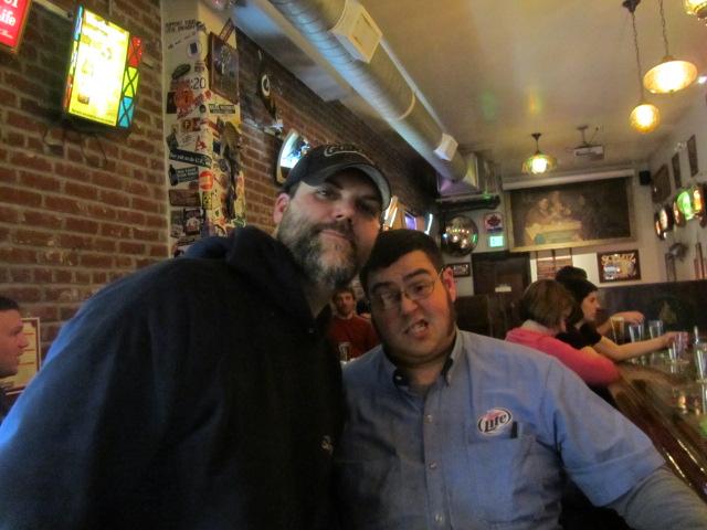 Portland beer distributors Jason and Wookie at Saraveza