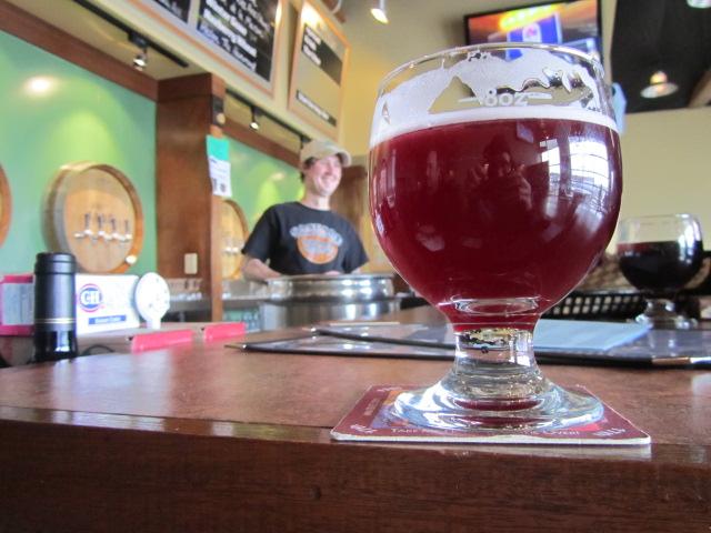 """Cascade head bartender Phil """"Biscuit"""" Timperman serves us up some grubbin' Cascade Blauw Van Der Jon Berry"""