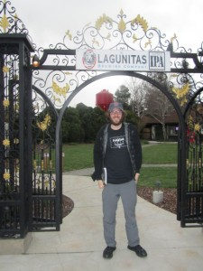 entering the pearly gates of the Lagunitas Beer Sanctuary