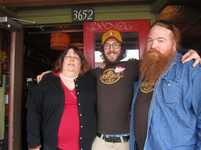 """2nd Annual Division St BrewPubliCrawl: Angelo (center) with """"Evil"""" Teresa and Charles Culp"""