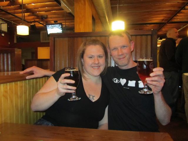 Catherine Head and Ben Kilduff toast to 10 years of Laurelwood
