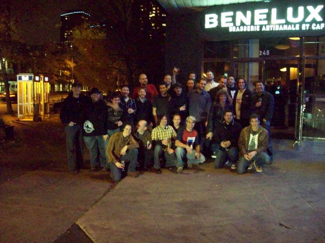 Brewers of the cask event at Benelux