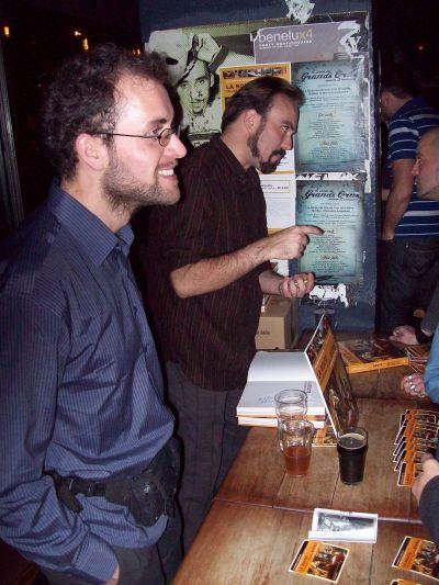 David Lévesque Gendron (left) and Martin Thibault, authors of Route des grands crus de la bière