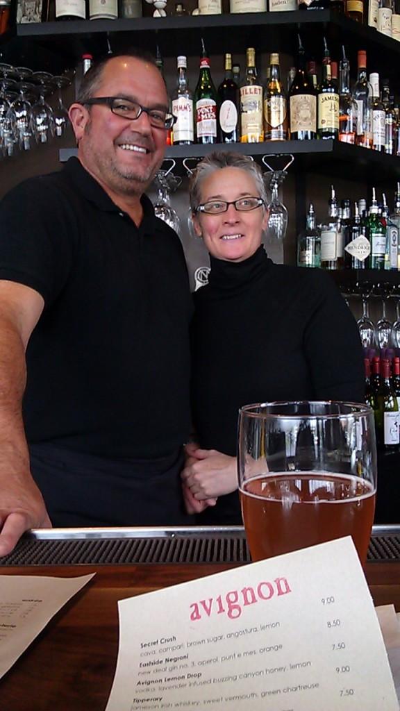 Bar Avignon founders Randy Goodman and Nancy Hunt