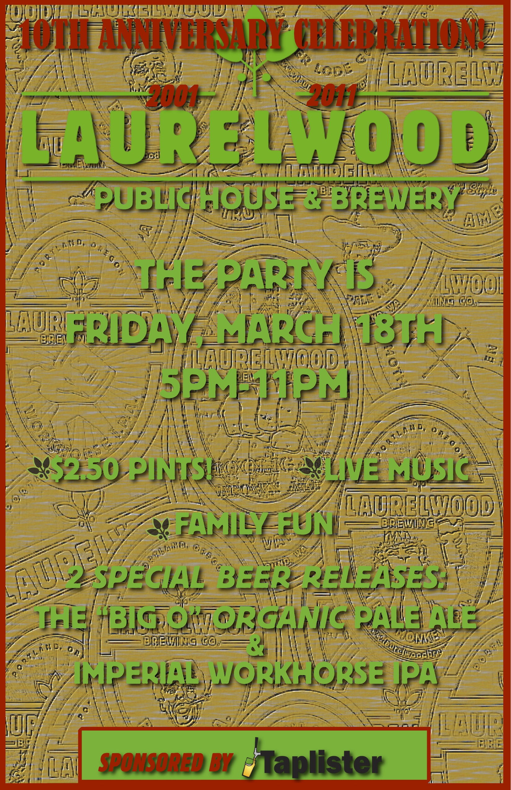 Laurelwood celebrates ten years of exceptional craft beer for Laurel wood