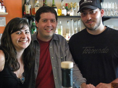 l to r: Yetta Vorobik, Jacob Grier, and Ezra Johnson-Greenough of Brewing Up Cocktails (photo by John Foyston of The Oregonian)