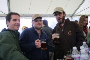 Chris Miller (center) at Skamania's Celebration of Beer Weekend in Stevenson, WA