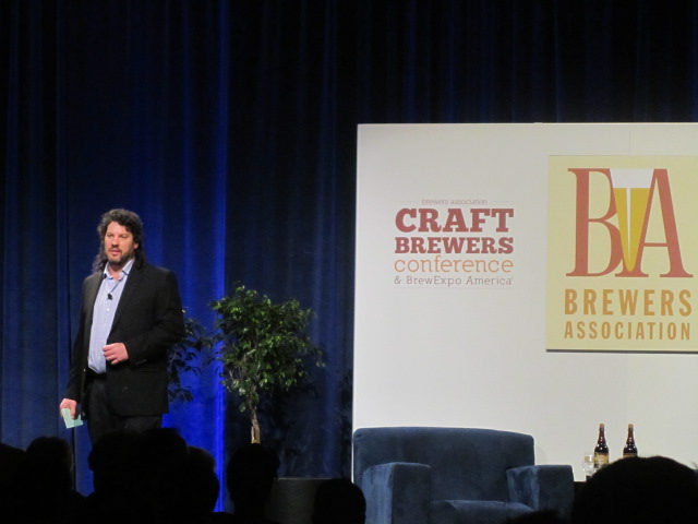 Paul Gatza, director of the Brewers Association addresses the crowd at the 2011 Craft Brewers Conference