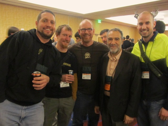 Oakshire crew with Charlie Papzian at 2011 Craft Brewers Conference