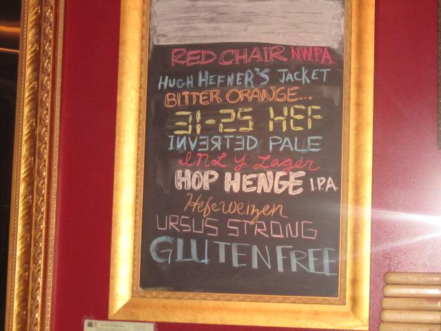 Beer chalkboard at Deschutes PDX