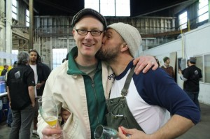 Van Havig (left) and Burnside's Jason McAdam