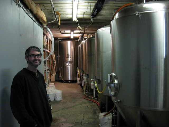 Head Brewer Aaron Jacob Smith and Boundary Bay Brite Tanks