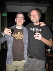 Angelo of Brewpublic (left) with Christopher Baker of Eyeluvbeer at MICROHOPIC 3
