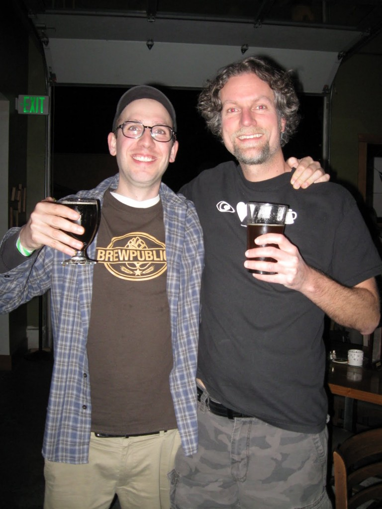 Angelo of Brewpublic with Chris Baker of Eye Luv Beer (right)