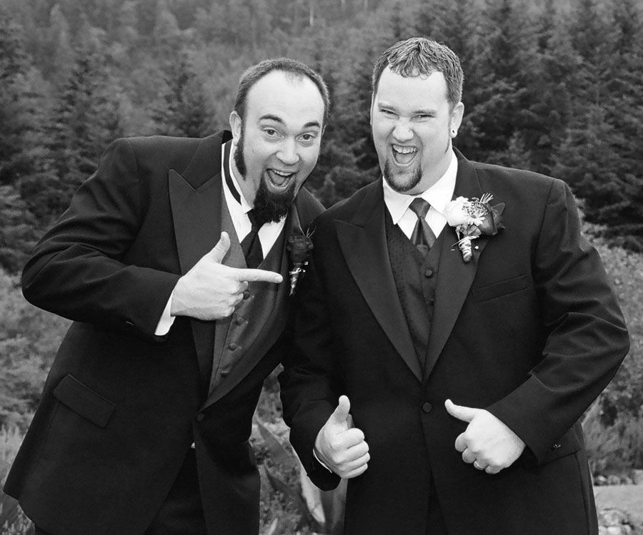 "Best bros: Chris ""King C"" Ensign (left) and Tim Ensign"