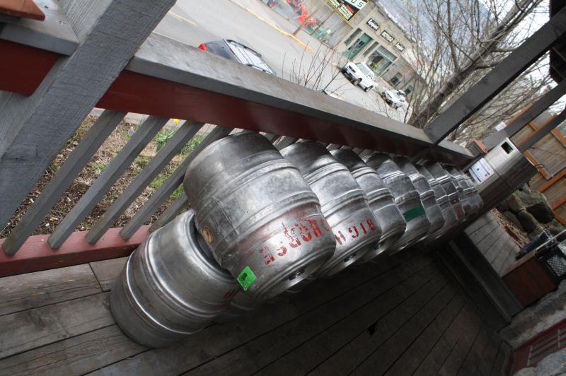 Big Horse Brewery kegs