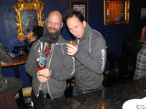 Jim Parker (left) and Jamie Floyd