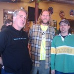 Ninkasi tasting at The BeerMongers with Ninkasi brand manager Morgan Miller (left), brewer Matt Beatty (center), and BeerMonger Sean Campbell