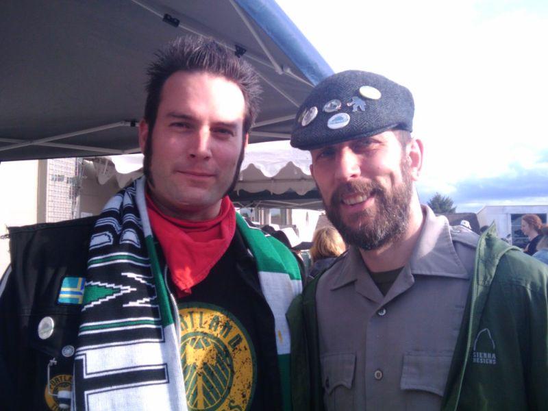 Beer geek timber buds Abram Goldman-Armstrong (left) and Maritime Pacific brewer Corey Blodgett